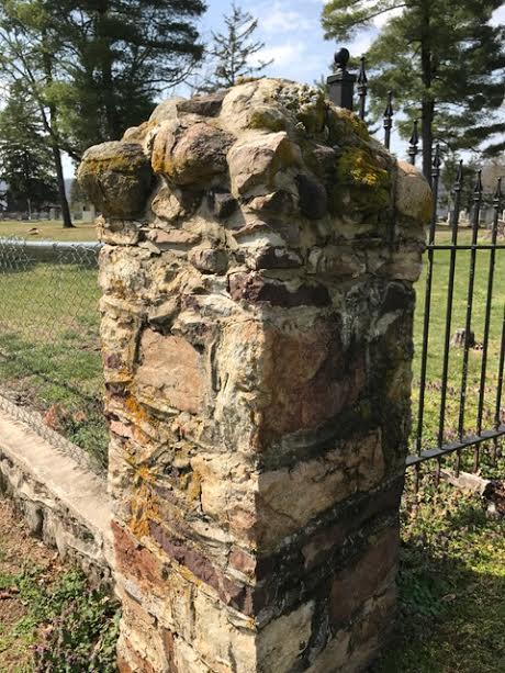 corner of fence in grave yard